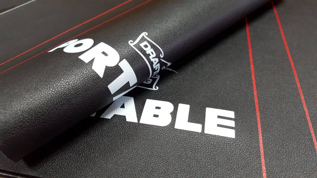 พิมพ์แผ่นหนัง PU สีดำ สำหรับทำกระเป๋า