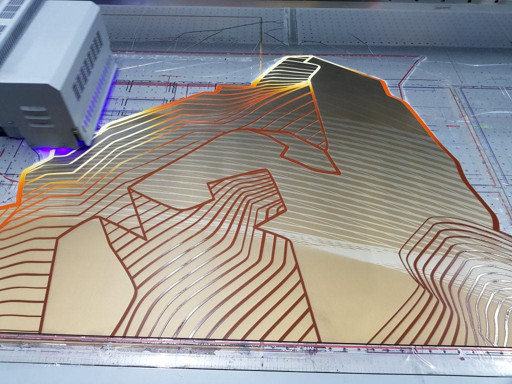 พิมพ์แผ่นสเตนเลส uv print on stainless steel