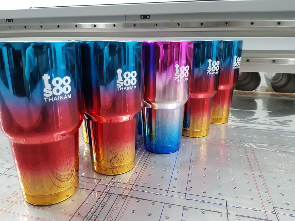 รับพิมพ์แก้วเยติ Yeti UV Print