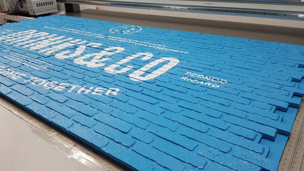 พิมพ์กำแพง UV Print 3D Foam Wall
