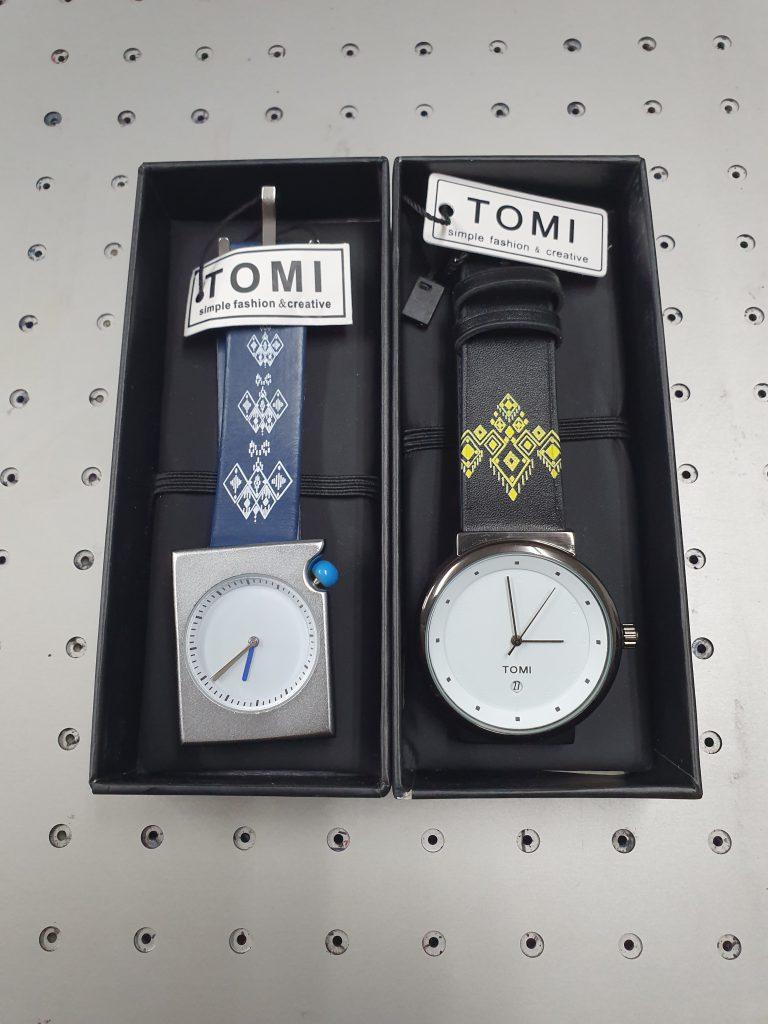 พิมพ์ uv ลายลงบนสายนาฬิกาหนัง ยี่ห้อ Tomi Watches