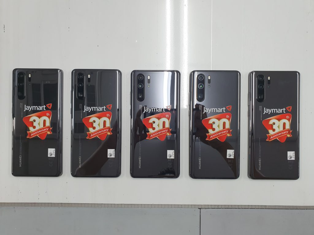 พิมพ์โลโก้ลงบนมือถือ Huawei P30 Pro