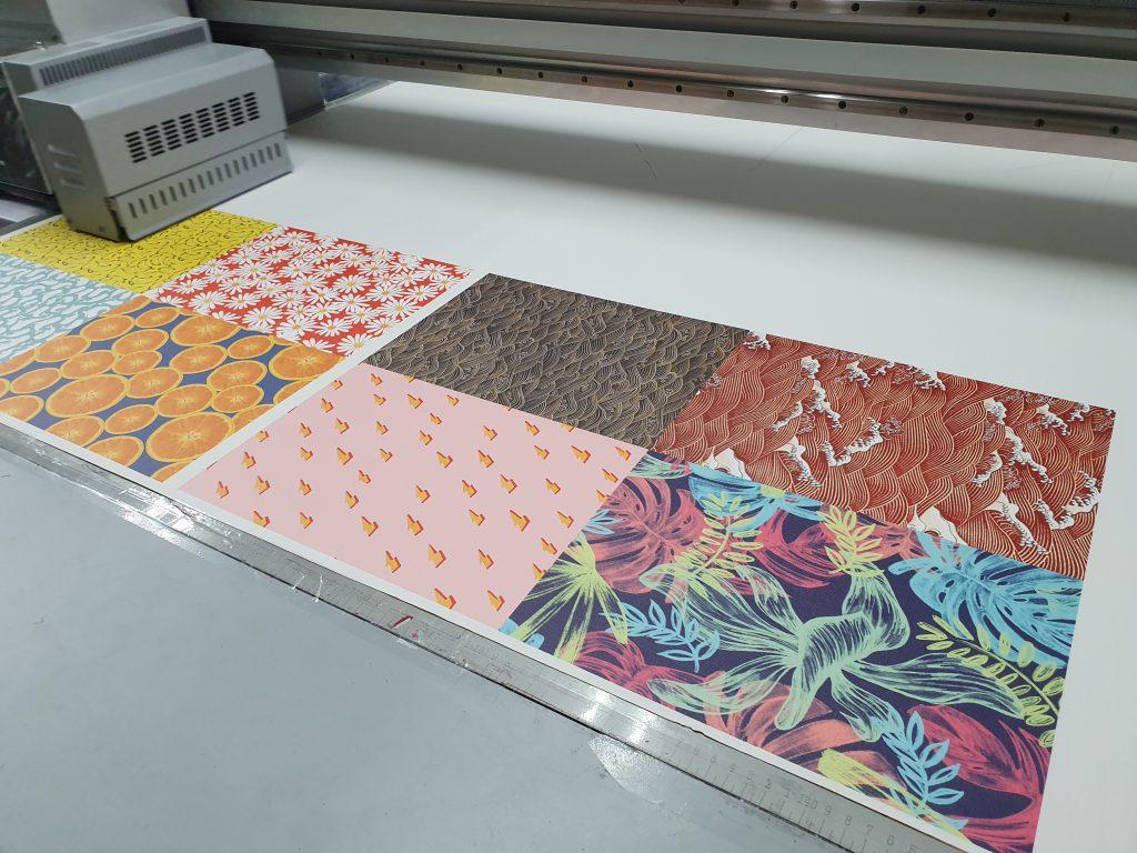ปริ้นหนังเทียม PU Leather UV Print
