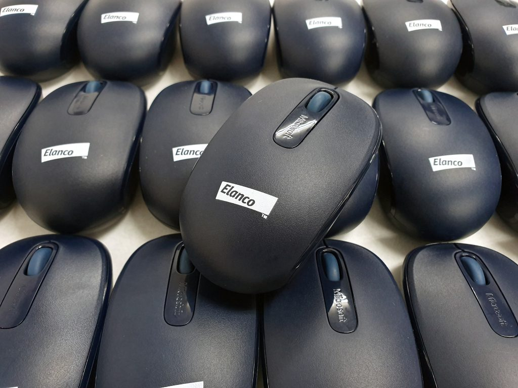พิมพ์โลโก้เมาส์ไร้สาย Wireless Mouse Microsoft