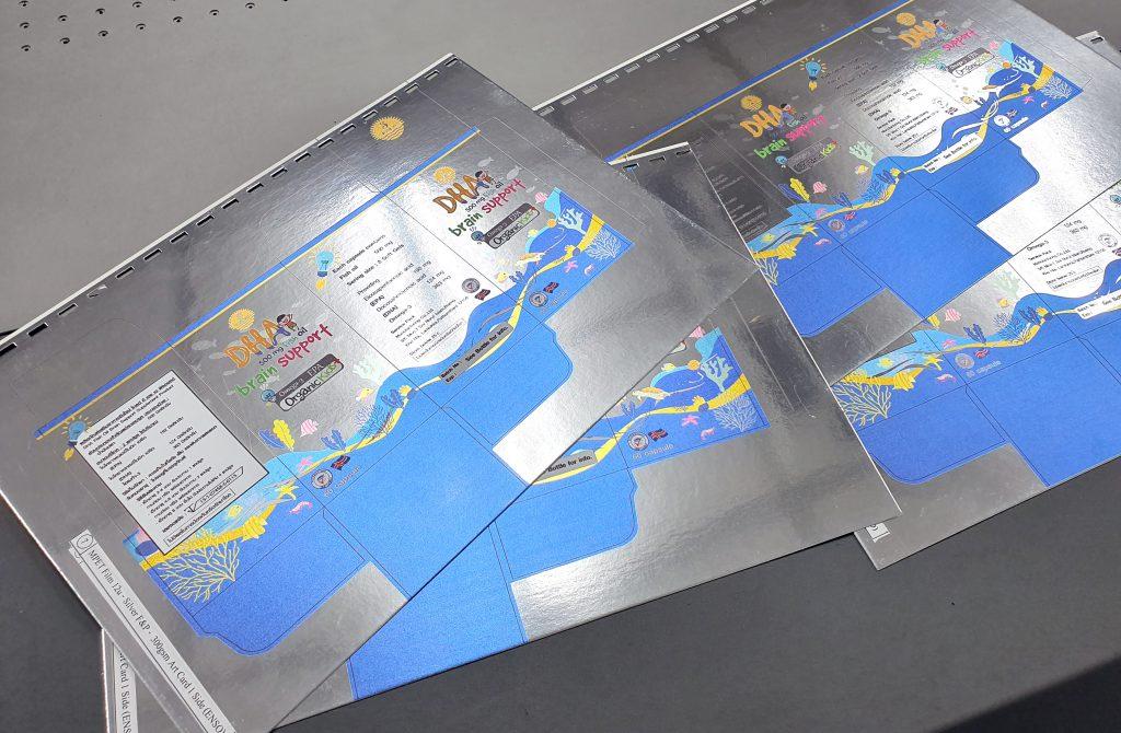 พิมพ์กระดาษฟอยล์สีเงิน MPET Film UV Print