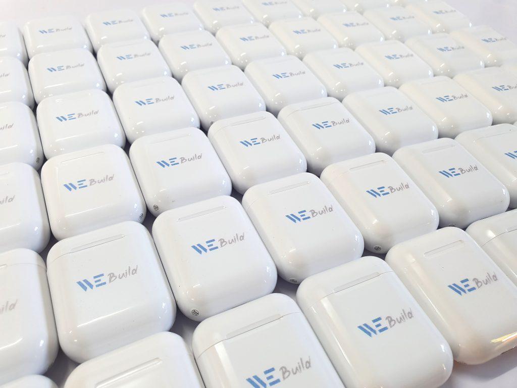 พิมพ์โลโก้ หูฟ้ง UV Print i11 TWS Bluetooth True Wireless Stero