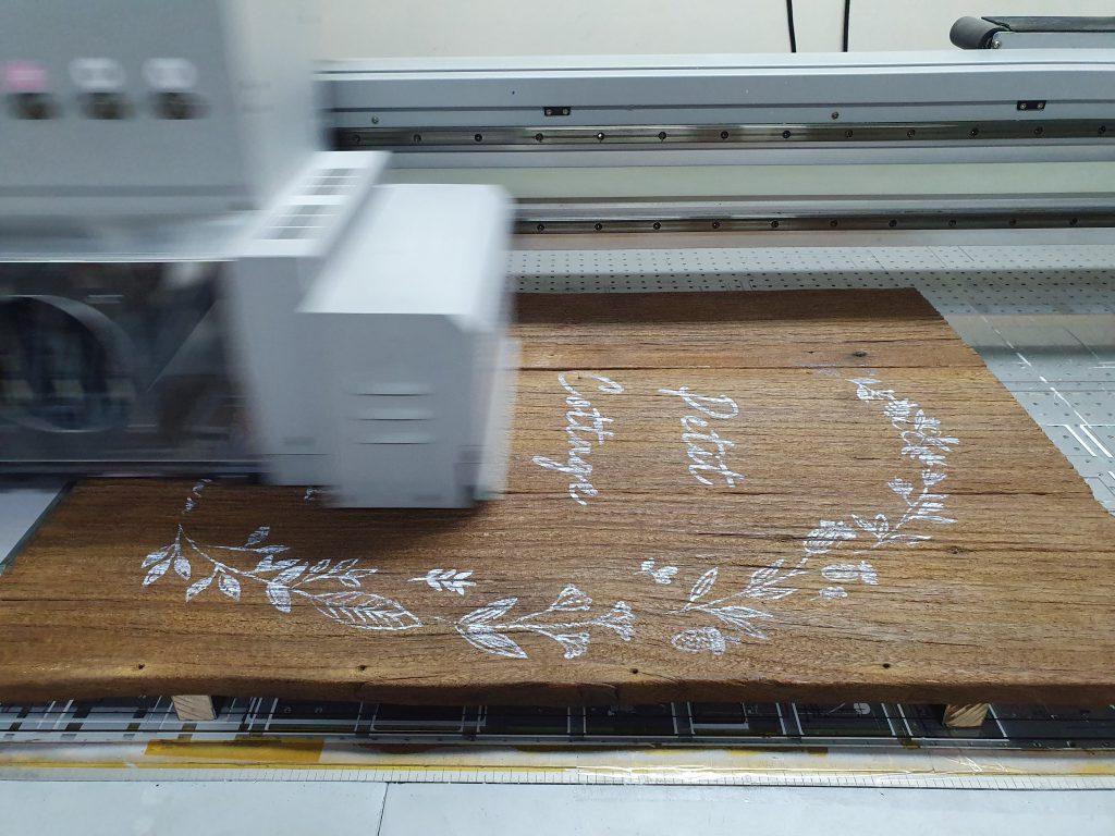 พิมพ์ป้ายแผ่นไม้วินเทจ