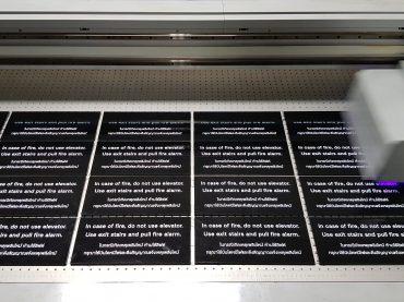 black acrylic uv print fire alarm
