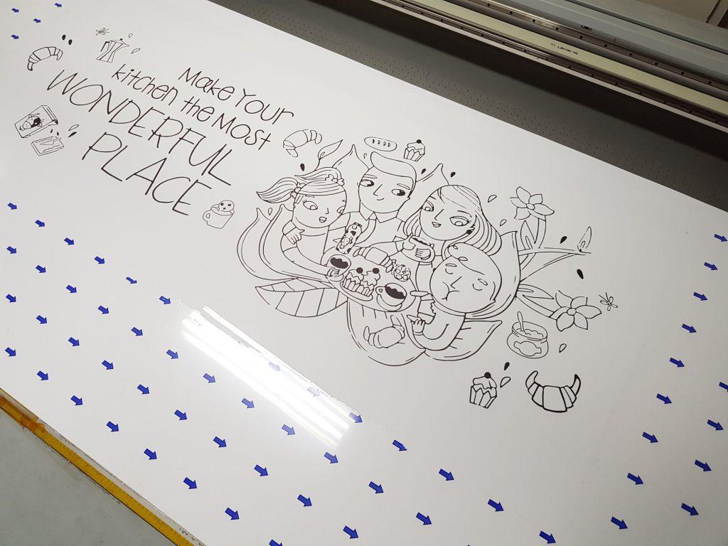 พิมพ์แผ่นลามิเนต โฟเมก้า สีขาวเงา 2.4เมตร