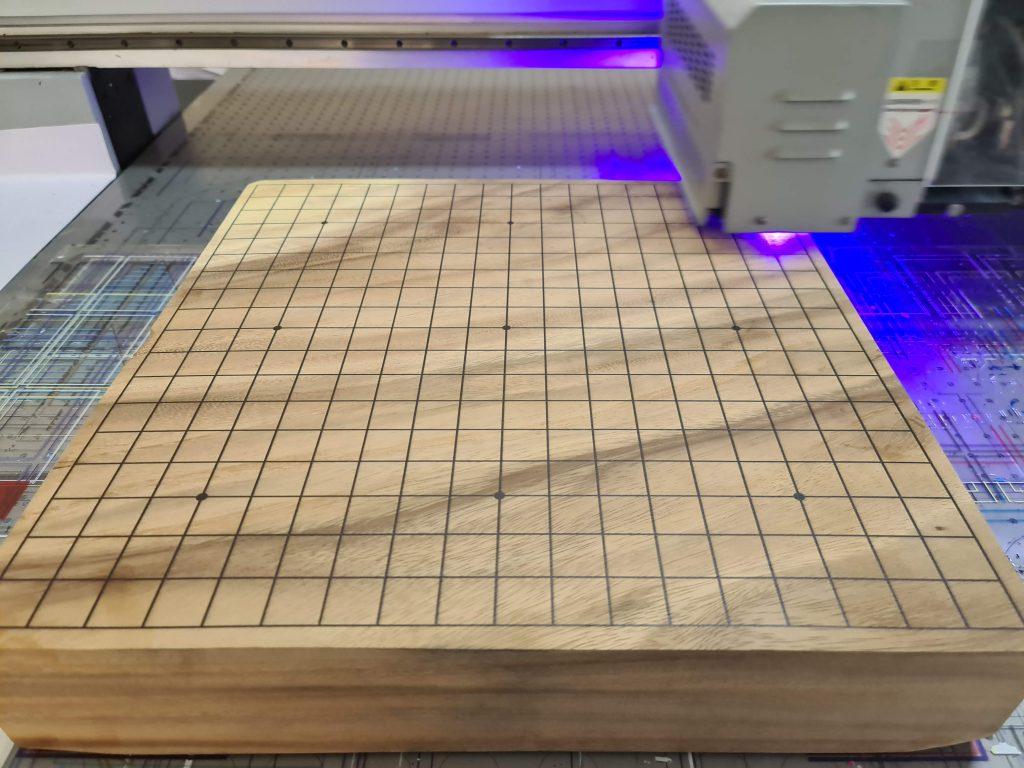 พิมพ์ UV กระดานหมากล้อมไม้ขนาดใหญ่