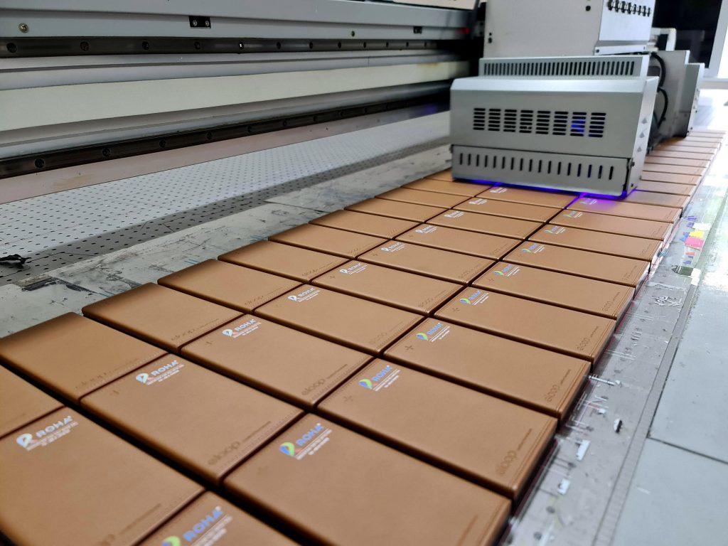 พิมพ์ยูวีโลโก้ Eloop E26 แบตสำรอง 12000mAh Power Bank